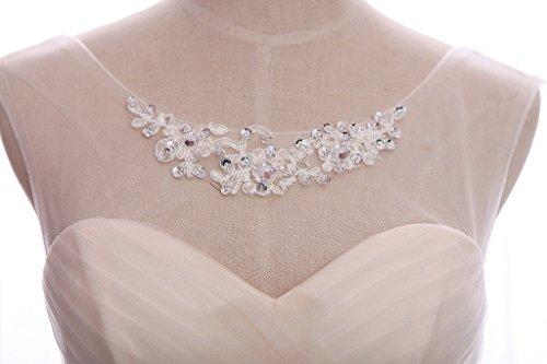 Eudolah Robe de cérémonie/soirée sans manches à encolure Bardot avec jupe en tulle et ceinture en perles demoiselle d'honneur Beige