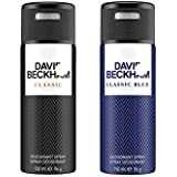David Beckham Classic Classic Blue Deodorant Spray - For Men (300 Ml, Pack Of 2)