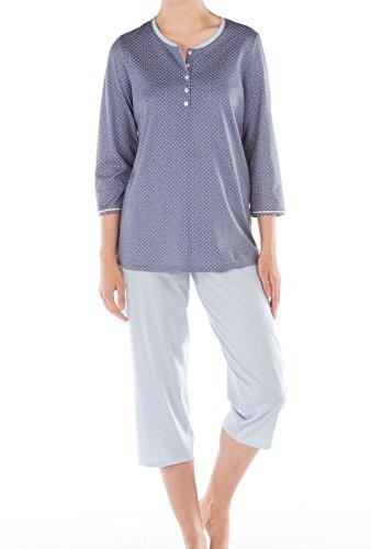 Calida Torino 3/4-Pyjama Damen Blue Granite