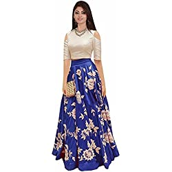 M&M Women's Cotton Lehenga Choli (arohi blue_Free Size)