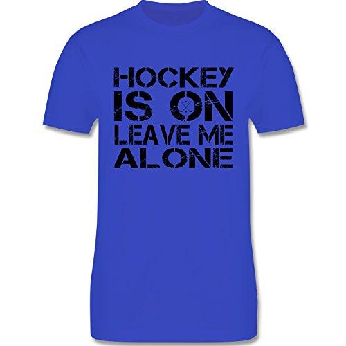 Eishockey - Hockey Is On - Herren Premium T-Shirt Royalblau