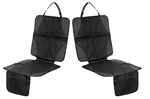 Preisvergleich Produktbild Filfia Kindersitzunterlage, 2er Pack, Schwarz