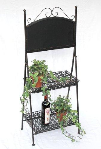 Scala fiorita 130837 in legno con Lavagna alt.108cm Supporto fiori Scala-piante