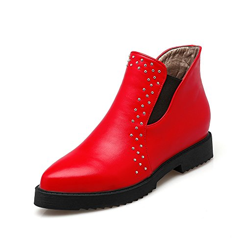 A&N ,  Damen Sneaker Low-Tops , rot - rot - Größe: 36 (Womens Snow Boots Plaid)