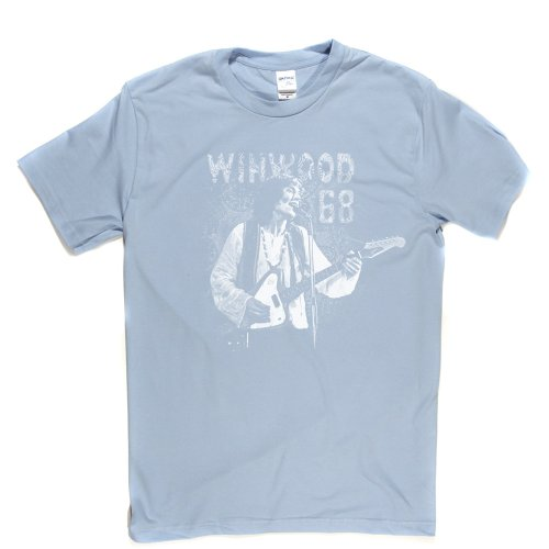Steve Winwood 68 English Rock Blue-Eyed Soul Rhythm & Blues Tee T-shirt Himmelblau