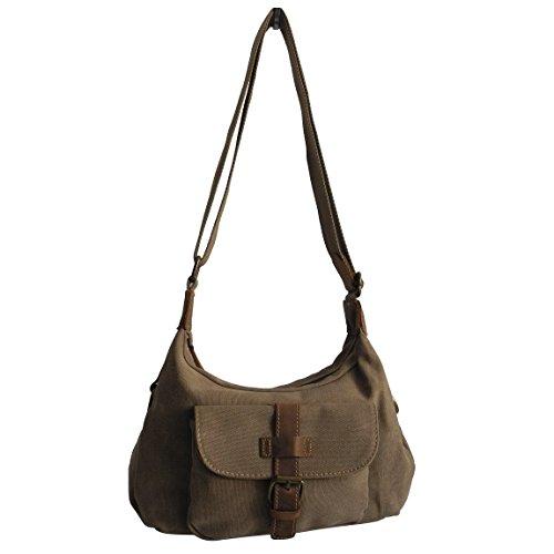 Canvas Jeans Tasche von Harolds - kleinere Damentasche , Shopper , Umhängetasche , Vintage Handtasche , Schultertasche - Baumwollstoff Segelstoff ( Natur ) - präsentiert von ZMOKA®