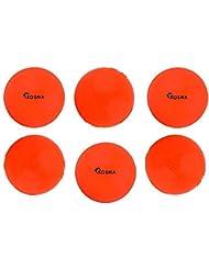 Kosma Set of 6 Windball Cricket Ball   Soft Training Ball   Indoor/Outdoor Practice Ball- Orange