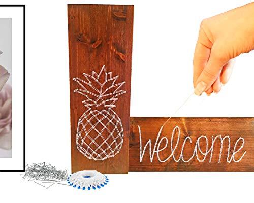 Wohnungs-Einrichtung Ideen ✪ KREATIVE Geschenke ✪ BASTELSET ausgefallene DEKO Buchstaben für Wohnzimmer Wand Haus HOME Schild als Geschenk Gift - Einrichtungsideen Wohnungs-deko modern Dekoration
