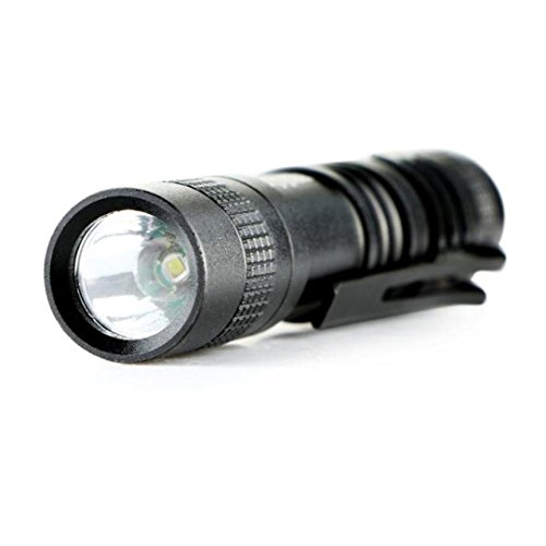 Taschenlampen SUCES Fahrradbeleuchtung CREE XPE-R3 LED 1000 Lumen Lampe Clip Mini Penlight Taschenlampe AAA (Black)