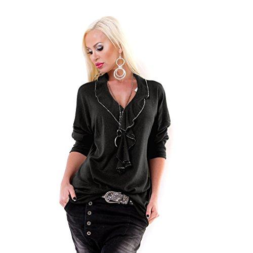 Moda -  Maglione  - Donna Nero