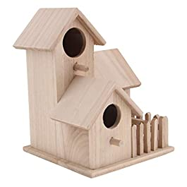 Sharplace Casa Uccelli Birdhouse Nido Scatola Arredamento Giardino Legno
