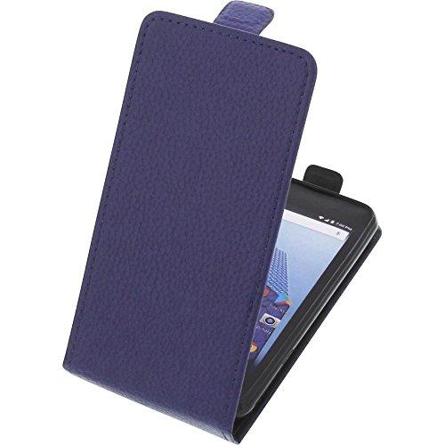 foto-kontor Tasche für Archos Access 45 4G Smartphone Flipstyle Schutz Hülle blau