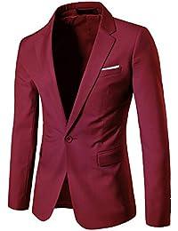 MISSMAOM Slim Fit Casual One Button Elegante Vestito di Affari Cappotto  Giacca Blazers Uomo 4625075ff69