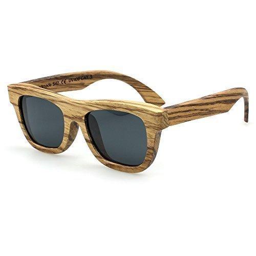 Sense42 Original polarisierte Sonnenbrille mit Holz Rahmen, Echtholz mit flexiblen...