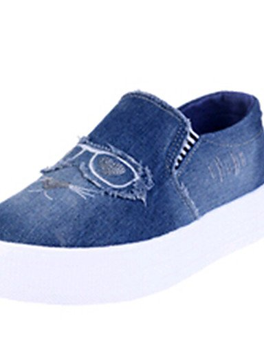 ZQ Scarpe Donna-Mocassini-Tempo libero / Casual / Scarpe comode-Creepers-Plateau-Di corda-Blu , dark blue-us9 / eu40 / uk7 / cn41 , dark blue-us9 / eu40 / uk7 / cn41 light blue-us9 / eu40 / uk7 / cn41