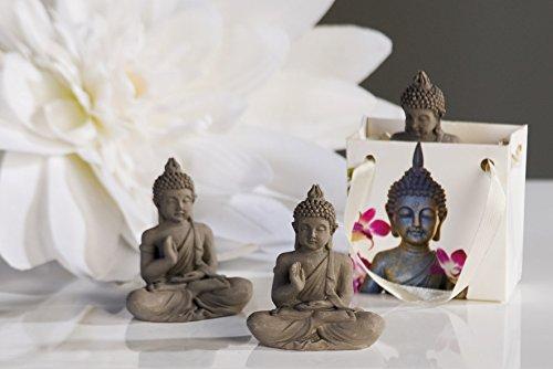 Casablanca 2x Figur Mini Buddha in Tüte grau