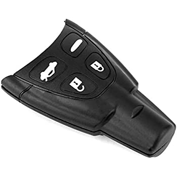 Kelay 4 Buttons Car Key Fob Case Cover Compatible for Saab 93 95 2003-2010 Remote Key Replacement