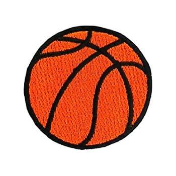 Patch ecusson brode applique ballon de basket basketball thermocollant Emblemen