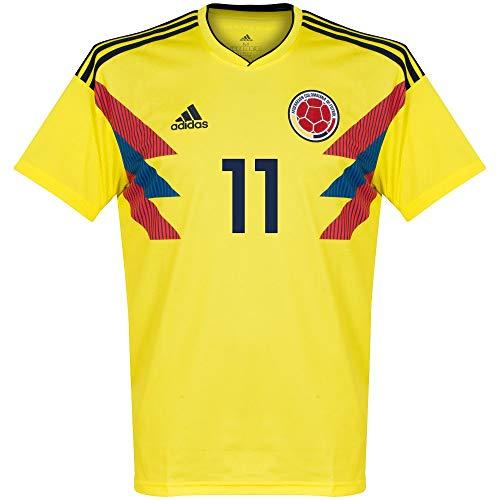 Player Print - adidas Performance Kolumbien Home Trikot 2018 2019 + Cuadrado 11 - L - Fußball Kolumbien Adidas