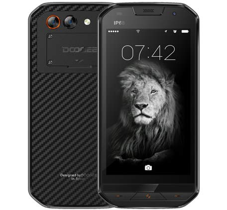 DOOGEE S30 - IP68 Impermeable 4G Rugged Smartphone Android 7.0, batería 5580mAh cámara Triple (5MP + 3MP + 8MP), GPS...