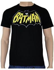 Batman - Camiseta, diseño retro de Batman, color negro negro negro Talla:xx-large