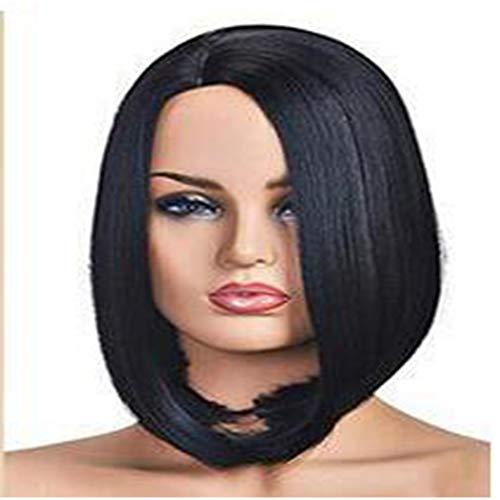 (Wig kurze Haare weibliche Seitendifferenzierung Fashion-Kopfhörer Rose Netz)