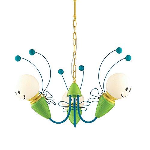Preisvergleich Produktbild ZMH LED Hängeleuchte Kinderzimmer Deckenleuchte Bienen-Design kreative Kinder Pendelleuchte für die Schlafzimmer Wohnzimmer (3-Flammig)