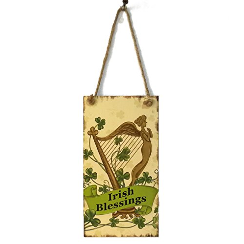 Level Irish Festival Blessings Brief Türschild Holztafel Tür-Wand-Dekor-hängende Anhänger Zeichen-Brett Plank Dekor Tragbarer