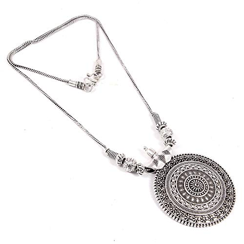 Natures Buggy Silver Pendant II Necklace with Chain for Women