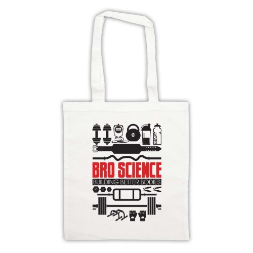 Bro Science Building Better Bodies borsa custodia Bianco