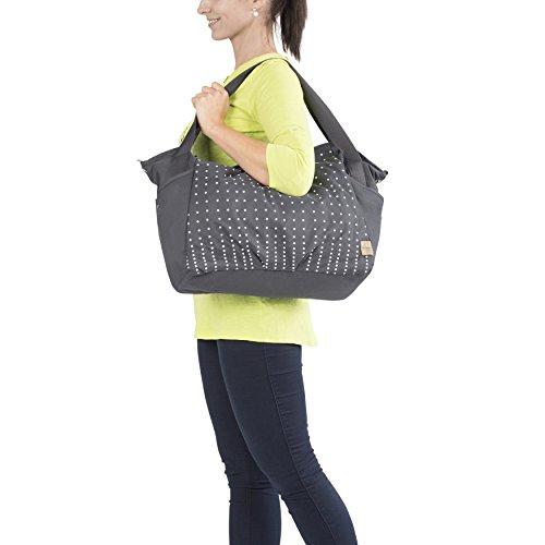 Lässig Casual Twin Bag Zwillings-/Wickeltasche mit verstellbarem Schultergurt inkl. Wickelzubehör, Dotted lines ebony - 6