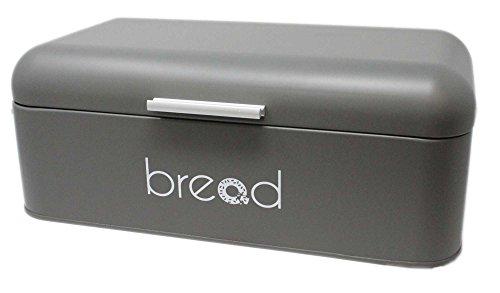 Eliware Moderner Brotkasten im Matt-Metallic Design | Grau