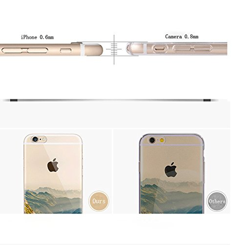 "iPhone 6s Handytasche, für iPhone 6 CLTPY Ultradünn Durchsichtig Original TPU Schale Etui, Kreativ Landschaft Muster Full Body Cover Case für 4.7"" Apple iPhone 6/6s + 1 x Freier Stylus - Meer Riesenrad"