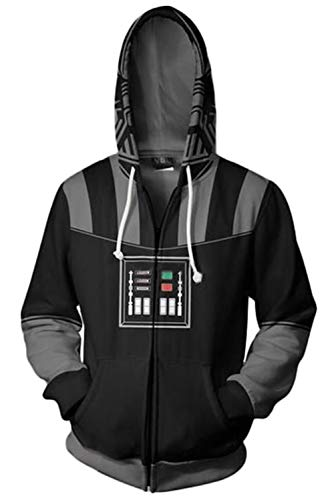 RedJade Herren Damen Kapuzenpullover Sweatshirt Hoodie Print Kapuzenpulli Tops Jacke Pullovershirt Sweatjacke Outwear Oberteile Pullovershirt Hoodies Jumper Kaputzen Star Wars Darth Vader - Hoodie Kostüm Star Wars