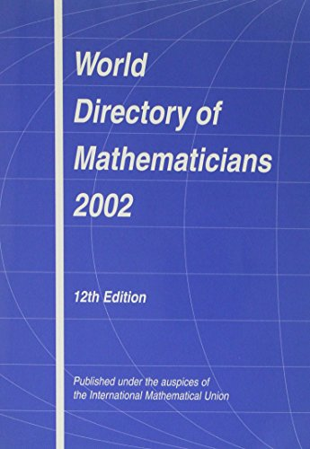 World Directory of Mathematicians 2002