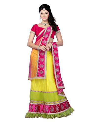 Diva Fashion-Surat Women's Net Embroidered Lehenga choli  available at amazon for Rs.2799