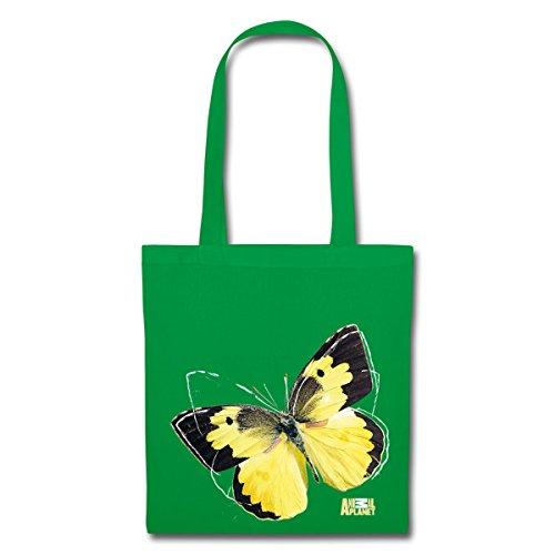 Spreadshirt Animale Pianeta Farfalla Golden Otto Tessuto Borsa Kelly Green