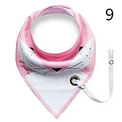 9 : Elistelle Infants Cotton Waterproof Bib Baby Triangle Bibs Saliva Towel 1 PCS9