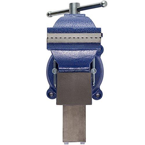 TecTake Schraubstock Amboss 360° drehbar mit Drehteller für Werkbank – diverse Größen – (Spannweite 125 mm | Nr. 401124) - 5