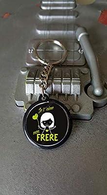 Porte clés 25 mm Je t'aime Mon Frère