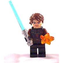 Lego Star Wars - Figurita de Anakin Skywalker con espada láser y estrella naranja