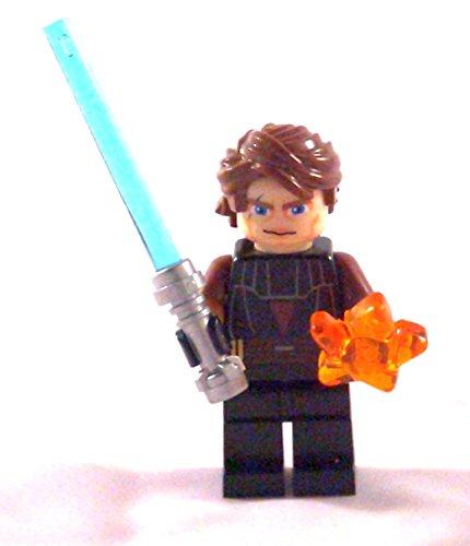 LEGO Star Wars - Minifigur Anakin Skywalker mit Laserschwert und trans- orangen Stern