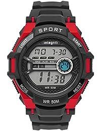 Integriti Digital Black Dial Men's Watch-IGM014C