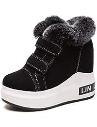 cb658a1aae867 KPHY Zapatos de Mujer Botas De Nieve Invierno Joker Fondo Grueso Alto  Dentro Zapatos Algodon
