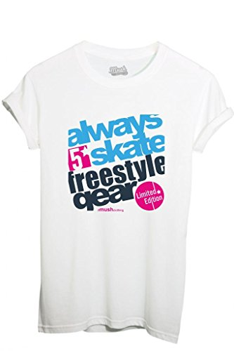 T-Shirt SKATE FREESTYLE NY - MUSH by MUSH Dress Your Style - Bambino-XL-BIANCA - Freestyle Skate Shop