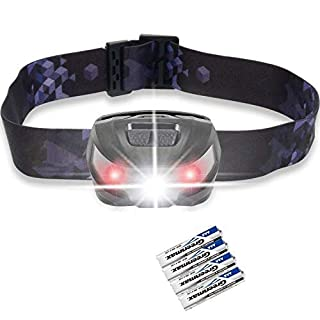 LED Kopflampe, Akale LED Stirnlampe , 5 Lichtmodi, 150LM, wasserdicht, Perfekt fürs Camping, Outdoor und Sport,inklusive AAA Batterien