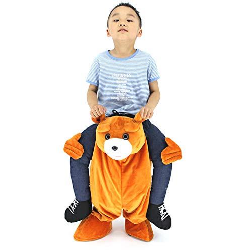 (YIWANGO Cosplay Kostüm Magische Hosen Lustiges Tier Zurück Mann Spielzeug Gefälschte Bein Show Filmrequisiten,A-M[125-135cm])