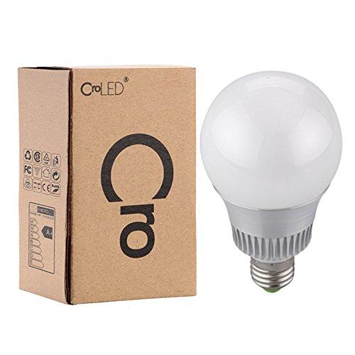 E27 LED bombilla 10W Lámpara Control Remoto con 16 opiciones de color que cambia de color, luz de ambiente [Energia clase A]