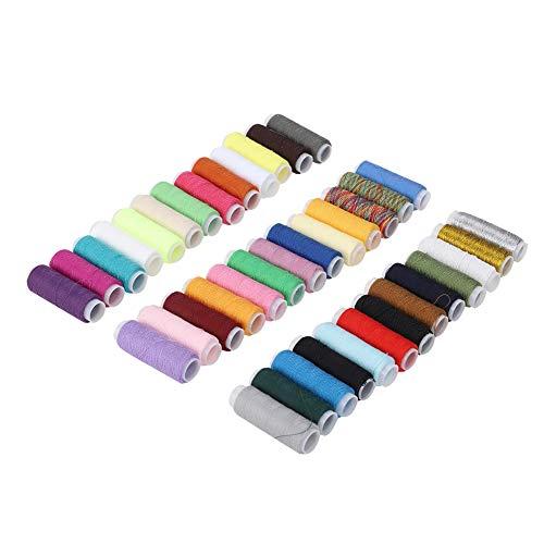 39 Colores Hilo Encerado Cordón tela Cuerda Carrete