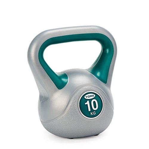 york-fitness-kettlebell-vert-argent-10-kg